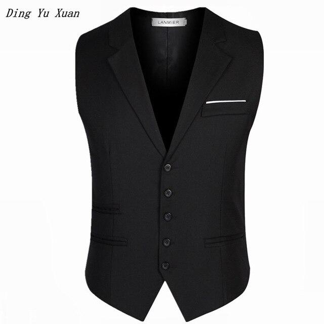 Gewijd Plus Size Zwart Grijs Jurk Vesten Voor Mannen Slim Fit Pak Vest Mannelijke Enkele Knoppen Vest Casual Zakelijke Mouwloze Jas 6xl Glanzend