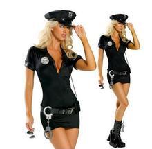 цены на Full set Adult Sexy Cop Costume Traffic police Uniform Halloween Policewomen Cosplay Fancy Dress S M L XL XXL в интернет-магазинах