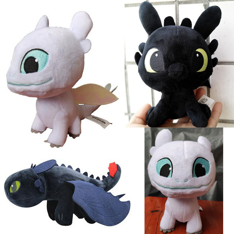 9in 23cm Naisidier 1pc How To Train Your Dragon Toothless Night Fury Plush Toy Soft Doll Kids Gift Dragon Plush With Embroidered Eyes Soft Stuffed Animals Toys Christmas Toy Gift