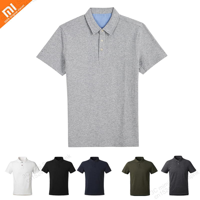 Xiaomi Mijia Spring and summer wash comfortable and breathable dry casual youth men's cotton lapel POLO shirt men's T-shirt tops