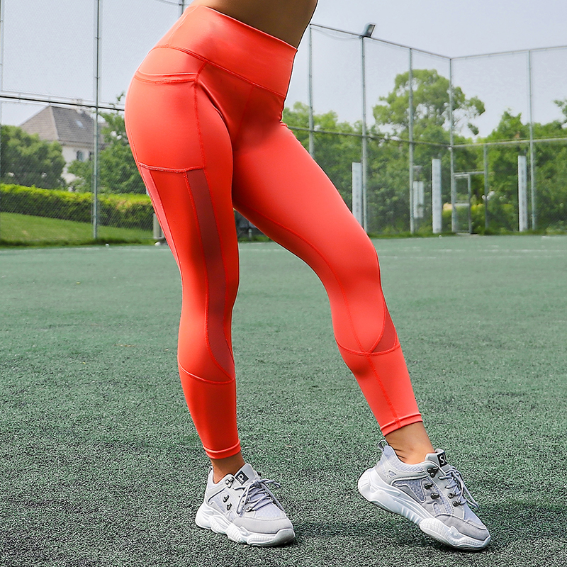 Women Mesh Pocket Fitness Leggings High Waist Legging Femme Mesh Patchwork Workout Leggings Feminina Jeggings 26