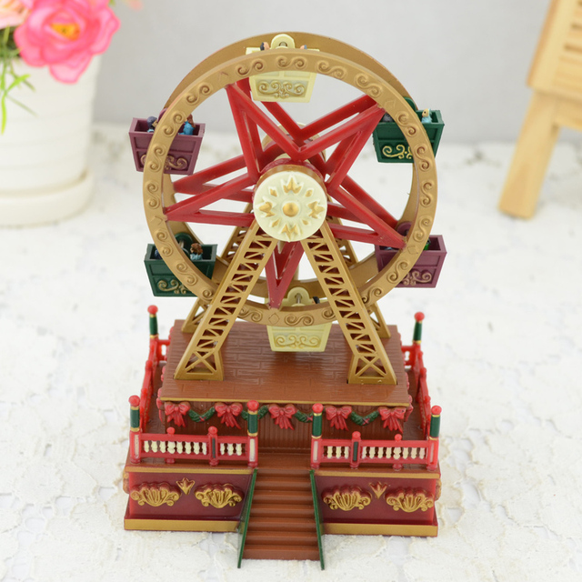 Free Shipping Creative Unusual Birthday Gifts Boyfriend Girlfriend Canon Music Box Gift Decoration Ferris Wheel