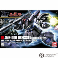 OHS Bandai HGUC 124 1/144 AMX 009 Dreissen Unicorn Ver Mobile Suit Assembly Model Kits