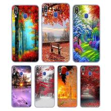 цена на Silicone Case Snow Street and trees for Samsung Galaxy Note 8 9 M30 M20 M10 S10 S9 S8 Plus Lite S6 S7 Edge Cover