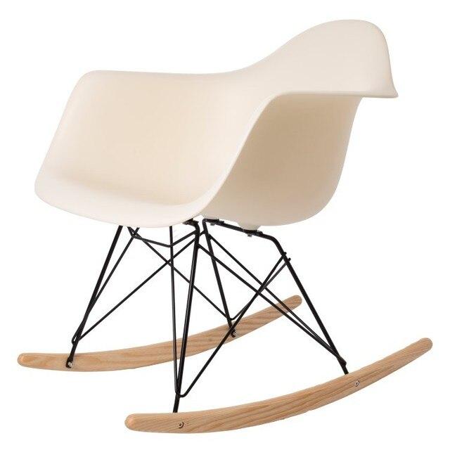 Modern Design Popular Home Decoration Rocking Chair Plastic Shell Rocker  Home Rocking Chairs Leisure Chair Modern