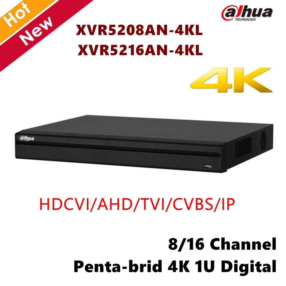 Dahua XVR5208AN-4KL XVR5216AN-4KL 8ch 16ch Penta-brid 4K 1U Digital Video Recorder Support HDCVI AHD TVI CVBS IP video inputs