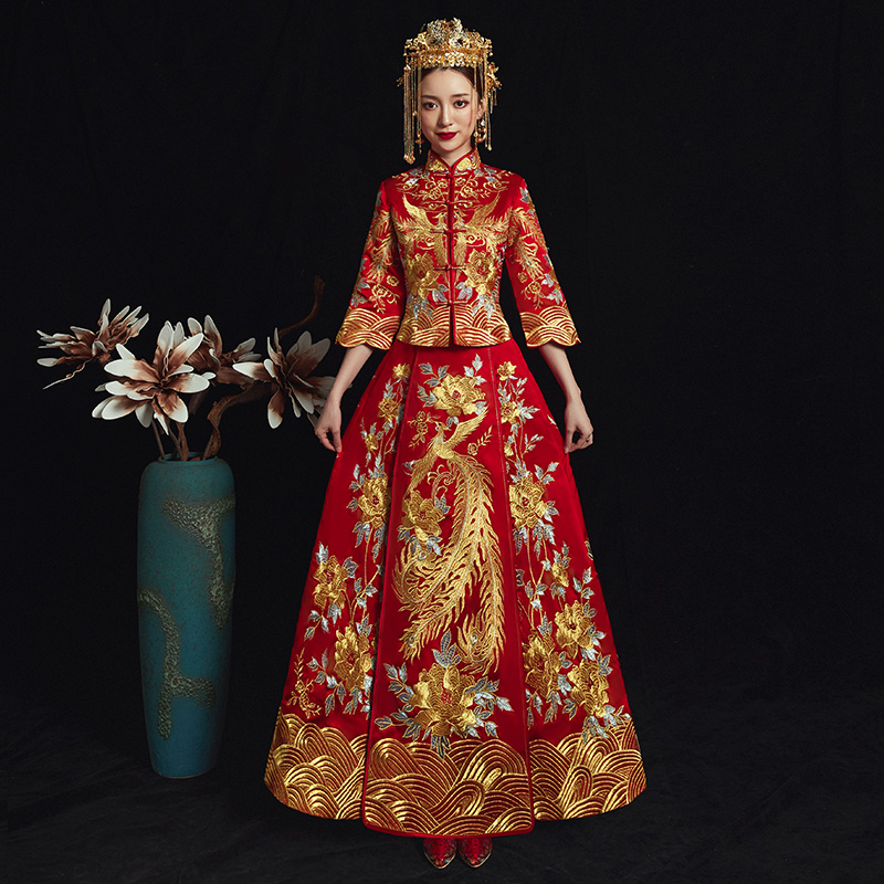 Results of top chinese wedding dress phoenix in hairstyle2018