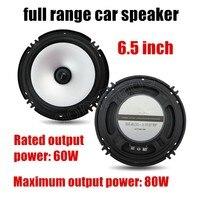 6.5 pouce de voiture audio fréquence corne Subwoofer haut-parleurs Pleine gamme haut-parleur 2x80 W mousse en caoutchouc bord chaude vente
