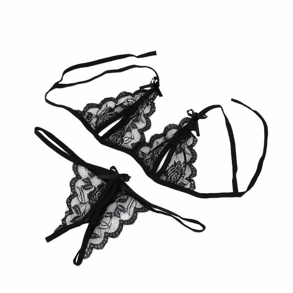 JAYCOSIN Sexy Lingerie Set Women Lace Strappy Push Up Bra Set Lingerie Porno Femme Wire Free Underwear Bralette Set Lingerie 716