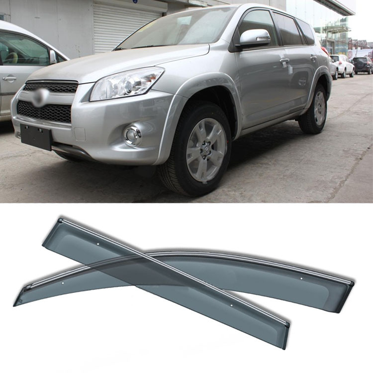 Jinke 4 pièces lame côté fenêtres déflecteurs porte pare-soleil bouclier pour Toyota RAV4 09-14