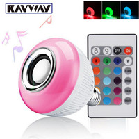 E27 Smart Bulb Light Dimmable 12W RGBW Wireless Bluetooth Speaker Bulb Music Playing LED Light Lamp