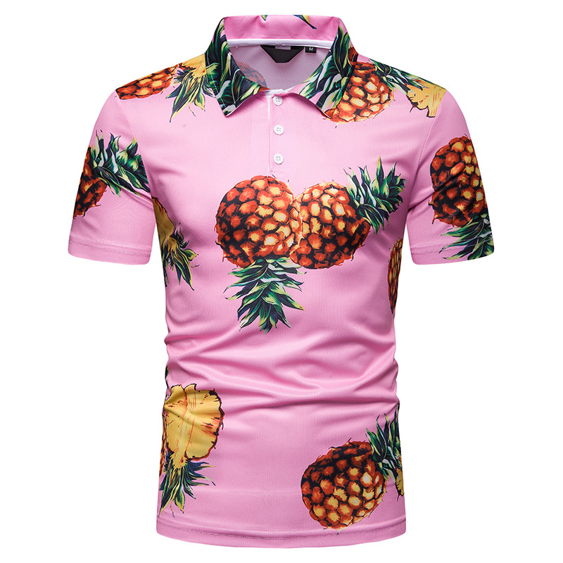 MarKyi 3d-pineapple print   polo   shirt men 2019 summer new short sleeve casual camisa   polos   masculina