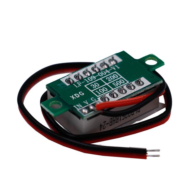 For Electromobile Motorcycle carRed LED display Mini Digital 4.5v-30v Voltmeter tester Voltage Panel Meter