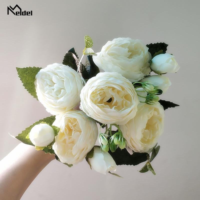 artificial flowers silk peonies bouquet  6