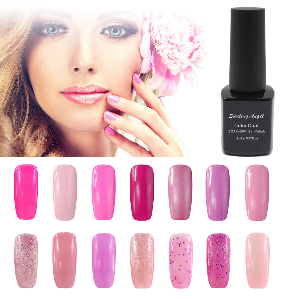 Gel Nail Polish French Manicure: Smiling Angel Pink Gel Nail Polish For French Manicure