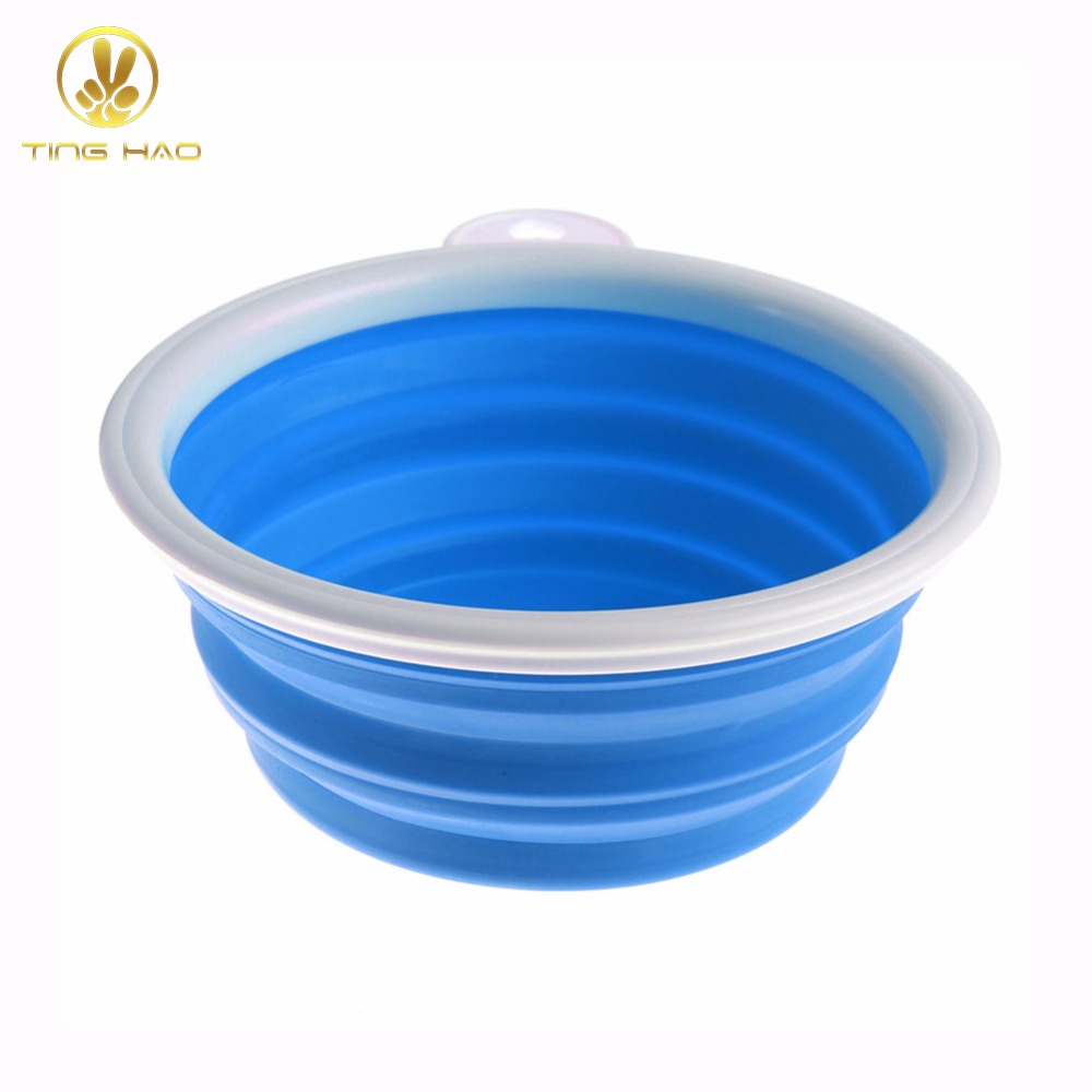 TINGHAO Portable Collapsible Folding Travel Pet Feeding Bowl Dog Cat Water Dish Feeder