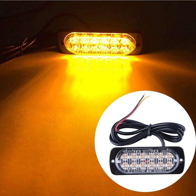New Ultra-thin LED 36W Police Lights 12V-24V 12 LED Car Truck Emergency Side Strobe Warning Light Car-styling police pl 12921jsb 02m