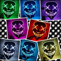 NewHalloween Mask LED Mask Light Up Party Mask Neon Mask Cosplay Mascara Horror Mascarillas Glow In Dark Masque V for Vendetta
