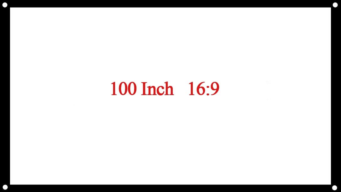 LEORY 16:9 100/120 pouces écrans de Projection écran de projecteur tissu réfléchissant pour projecteur