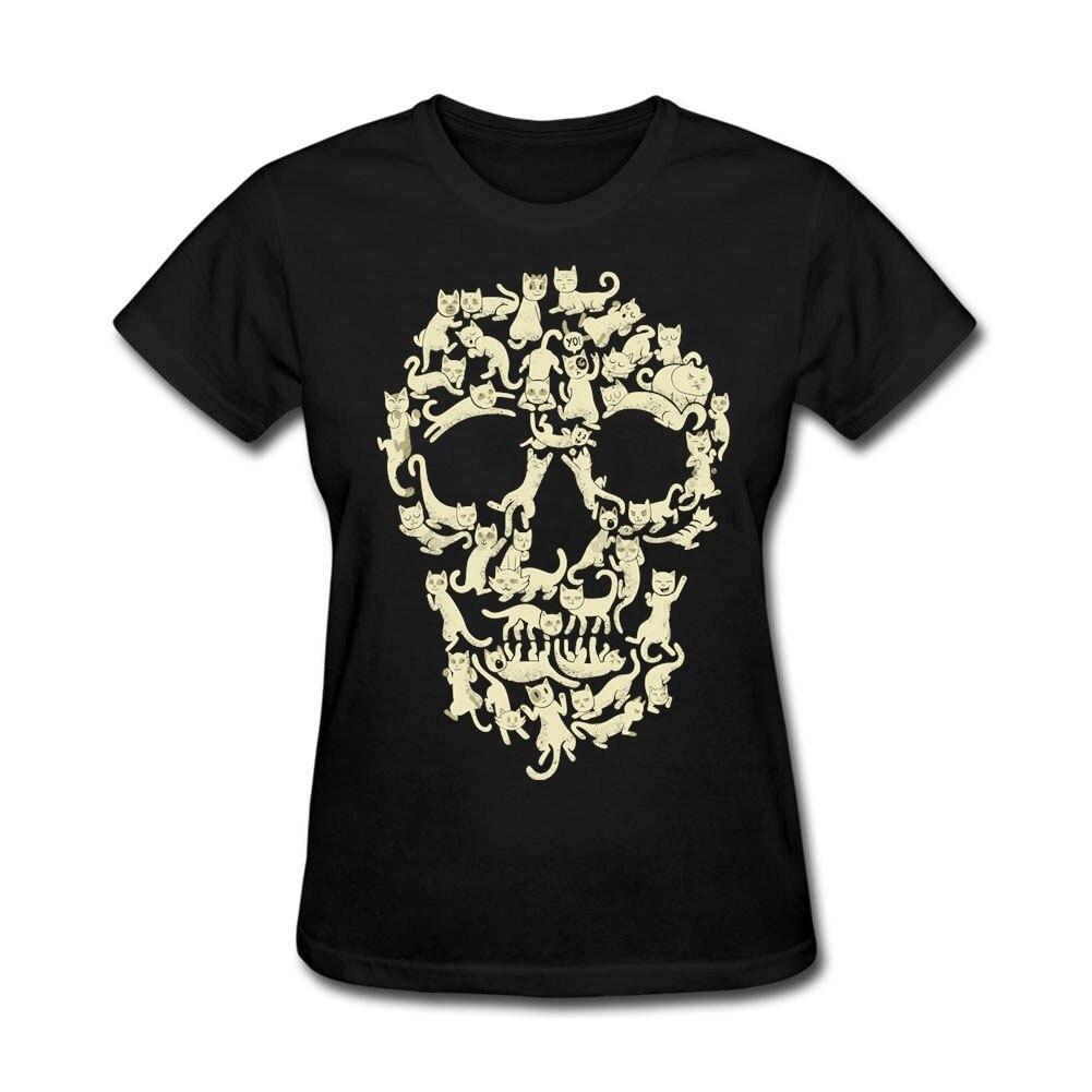 Design t shirt websites - Custom Design Catskull Woman Korean Gift S T Shirt Quality T Shirts Websites Sexy Women Purple