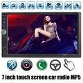 Новый 7 ''TFT HD Автомобильный радиоприемник bluetooth MP5 Player 12 В Car Audio видео FM 2 din размер поддержка Камеры заднего вида палец сенсорный экран управления