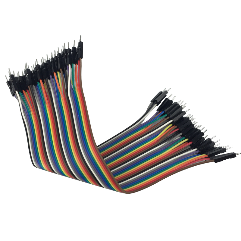 40pcs Dupont Cable Raspberry Pi 3 Jumper Wire Male to Male Dupont Line with 20/30cm for Orange pi plus 2 for breadboard 100pcs dupont head 2 54mm 4p 1x4p dupont plastic shell pin head connector jumper wire cable housing plug female