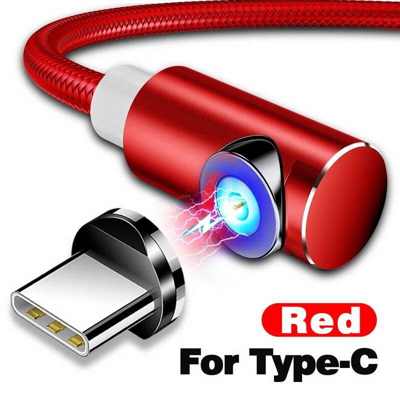 INIU 2 м Магнитный кабель Micro Тип usb C Зарядное устройство для зарядки для iPhone XS X XR 8 7 samsung S8 магнит Android телефонный кабель Шнур - Цвет: For Type C Red