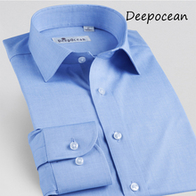 New Fashion Men Shirt Long Sleeve Man Dress Business Shirts Casual Slim for man Hot Sale Promotion 7 Colors