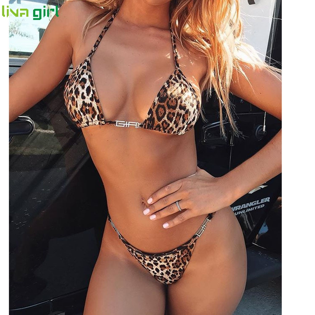Liva Girl Sexy Leopard Bikini Fashion Push Up Women Swimsuit 2019 New Brazilian Swimsuit Fashion Top Beach Wear Bathing Suits