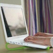Незаряженных радиатор cooler переносной охлаждения стойки пластиковый стенд зеленый поддержка ноутбук