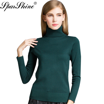 Wool Knitted Cashmere Turtleneck Sweater Women Sweaters And Pullovers Female 2017 Winter Pull Femme Ladies Pullover Jumper Tops
