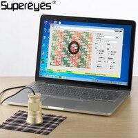 Supereyes Цифровые микроскопы автоматическое текстильной анализа Нитки счетчик белье тестер видео микроскоп с ручной фокусировкой C003