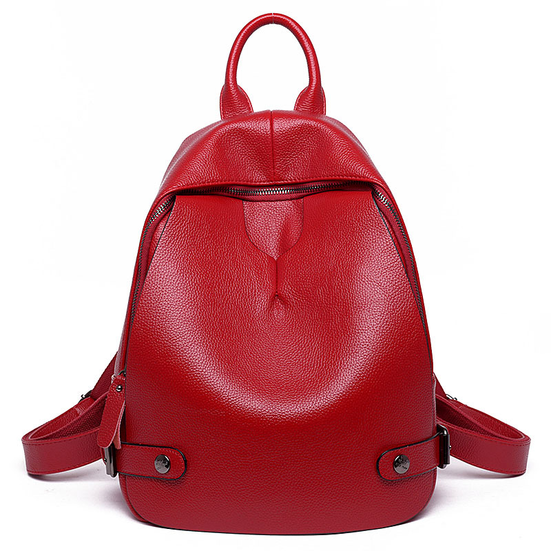Fashion Women Leather Backpack School Bag Preppy Style Shoulder Bag School Backpacks for Teenage Girls Female School Bag Daypack annmouler women fashion backpack pu leather shoulder bag 7 colors casual daypack high quality solid color school bag for girls