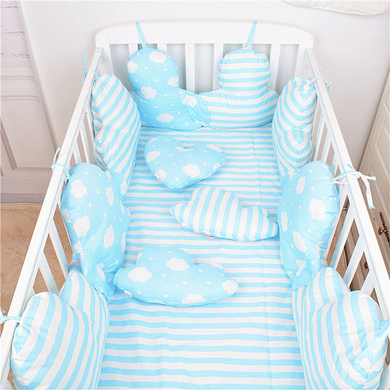 High Quality 10Pcs/Lot Baby Bed Bumper in the Crib Cot Bumper Baby Bed Protector Crib Bumper Newborns Toddler Bed Bedding Set 5pcs set baby bed bumper infant bed cot bumper bed protector breathable baby crib protector cushion toddler nursery bedding