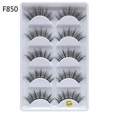5 Pairs Mink Eyelashes Hand Made 3D Hair False Natural Long Eyelash Extension Faux Lash