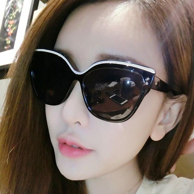 6e9b2faeb Oculos de sol feminino 2017 Óculos De Sol Da Forma Das Mulheres Gato Olho  Quadro Óculos