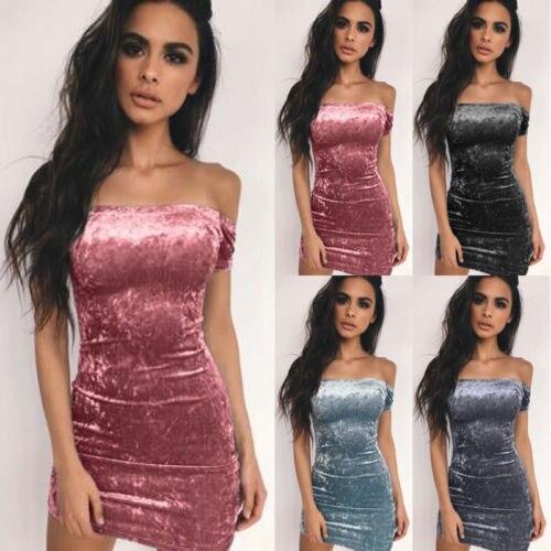 Elegant Wrap Dress WomenOff Shoulders Sleeveless Velvet Dress Femme 2018  Short Party Dresses Robe Hiver-in Dresses from Women s Clothing on  Aliexpress.com ... 8b2e3ccff8b8