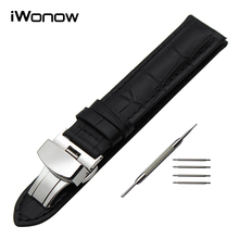 19mm 20mm Genuine Leather Watch Band for Tissot PRC200 T17 T41 T461 T014 T049 T067 T095 Butterfly Buckle Strap Wrist Bracelet