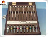 Free Shipping 1 Set High Quality Kwong Yuen Watchmakers Precision Screwdriver 10 Piece Set Brand New
