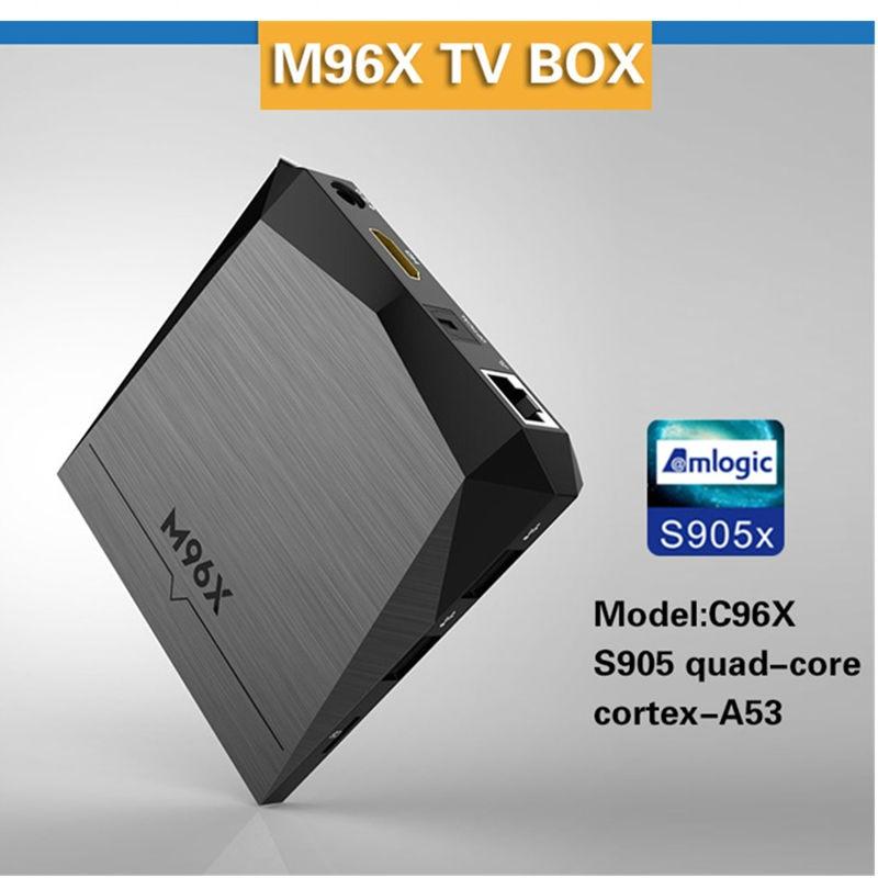 M96X Android 6.0 Amlogic Caja de la TV 2G DDR3 8G EMMC S905X Quad Core WIFI Pent