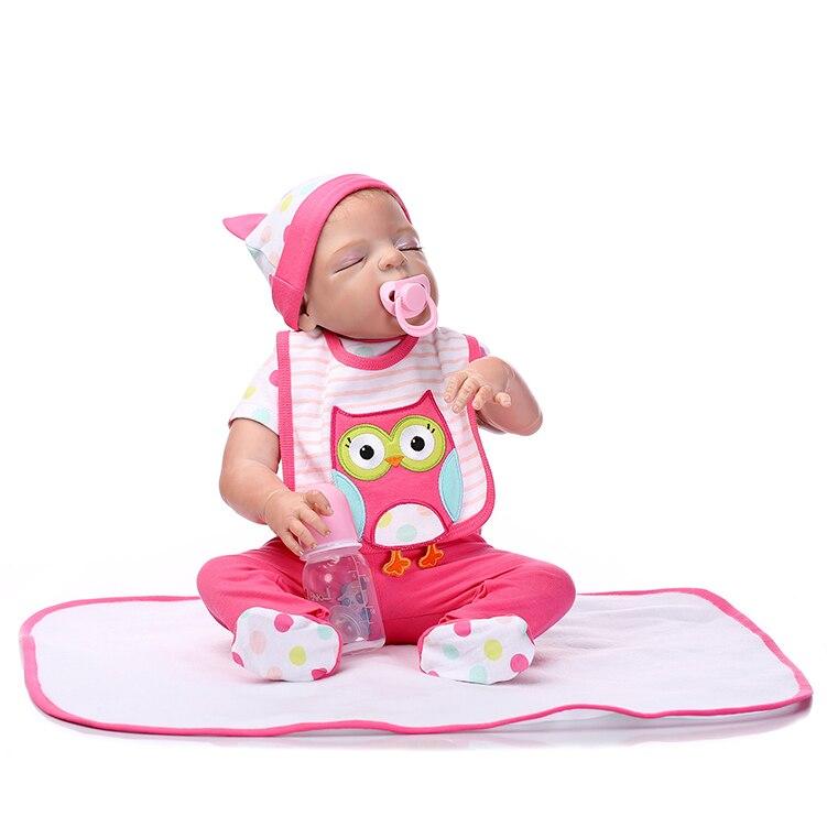 57 cm Silicone bébé Reborn poupées réaliste poupée Reborn bébés jouets pour fille garçon dormant poupée enfant jouets anniversaire cadeaux de mariage