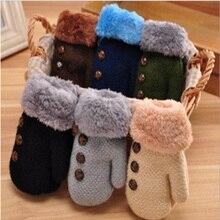 Зимние перчатки для маленьких детей, хлопковые перчатки для мальчиков и девочек, варежки, теплые листочки, зажим для веревки, однотонные перчатки, шнурки