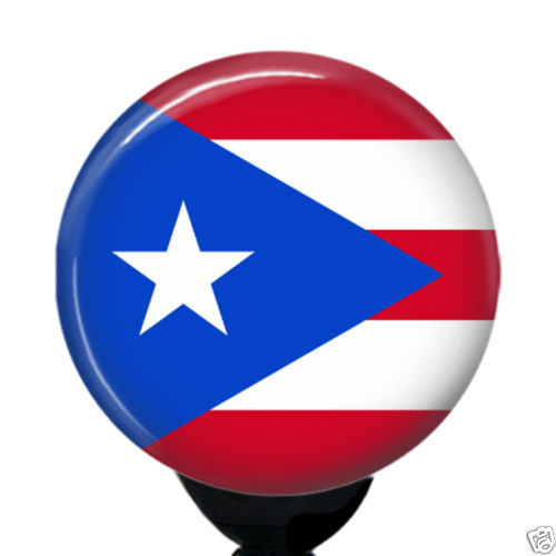 Grand Escompte Personnalisé Puerto Rico Drapeau Badge Reel - Porte badge pas cher