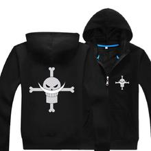High-Q Unisex ONE PIECE Edward Newgate Hooded Hoodies Jacket Coat Zipper Cardigan Sweatshirts Top
