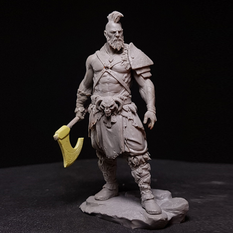 1/24 75mm Resin model figures kits Razgor The Warbringer (double-head) Unpainted and  unassembled  Free shipping R118G1/24 75mm Resin model figures kits Razgor The Warbringer (double-head) Unpainted and  unassembled  Free shipping R118G