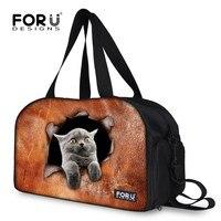 FORUDESIGNS Female Travel Bag Large Capacity Waterproof Student Animal Printing Bag Portable Women's Bag Travel Bags Women