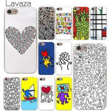 Lavaza Keith Haring Seni Keras Ponsel Case untuk iPhone XR X XS 11 Pro Max 10 7 8 6 6S 5 5S SE 4 4S Cover(China)