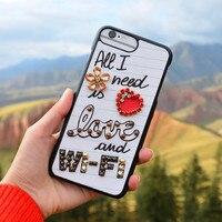 Dla iPhone 7/8 Przypadku Kryształu Diamentu Kwiat Owoce Klejnotami Luksusowe telefon Przypadku Capa Pokrywa dla iPhone 7 8 Wszystkie Potrzebne jest Miłość Wi-Fi
