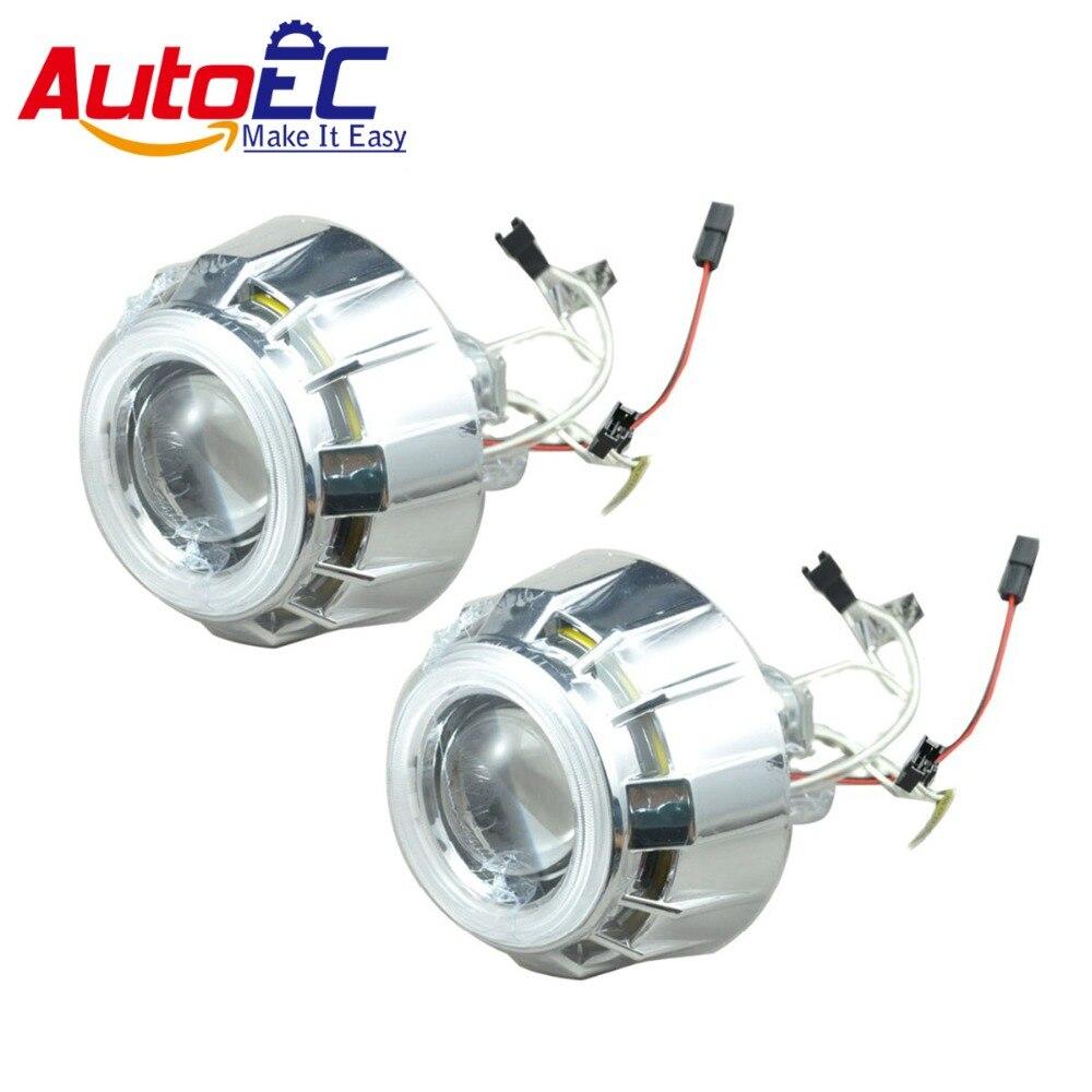 AutoEC 2.5 дюймов спрятанный Би-объектив проектора угол глаза фары супер свет 12V 5 Цвет #LM47