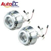 AutoEC 2.5 inch hid bi projector lens angle eye headlight super light 12v 5 color #LM47